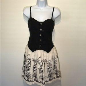 Francesca's Linen & Denim Dress EUC